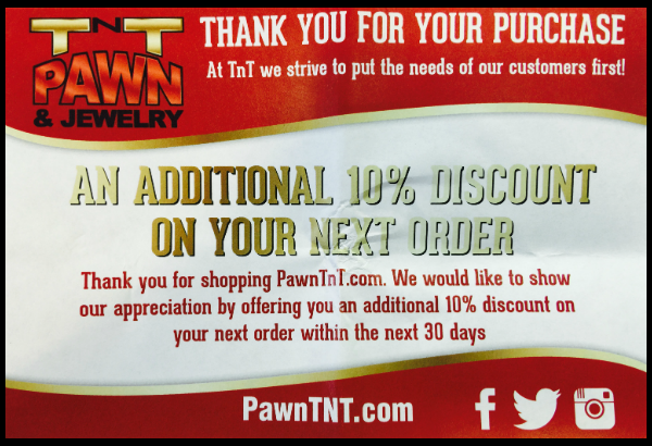 TNT packing slip discount